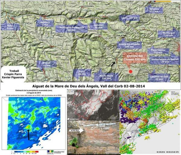Mapa de les precipitacions ( Crispin Parra i Xavier Figuerola) -
