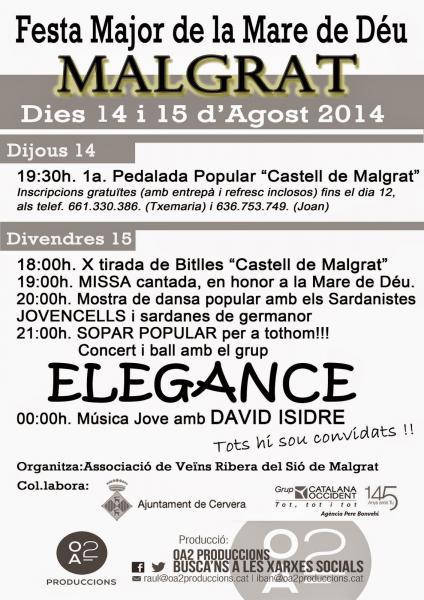 cartell Festa major Malgrat 2014