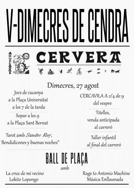 cartell V Dimecres de Cendra -