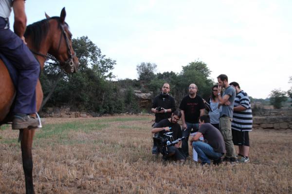 l'equip de producció en un moment del rodatge