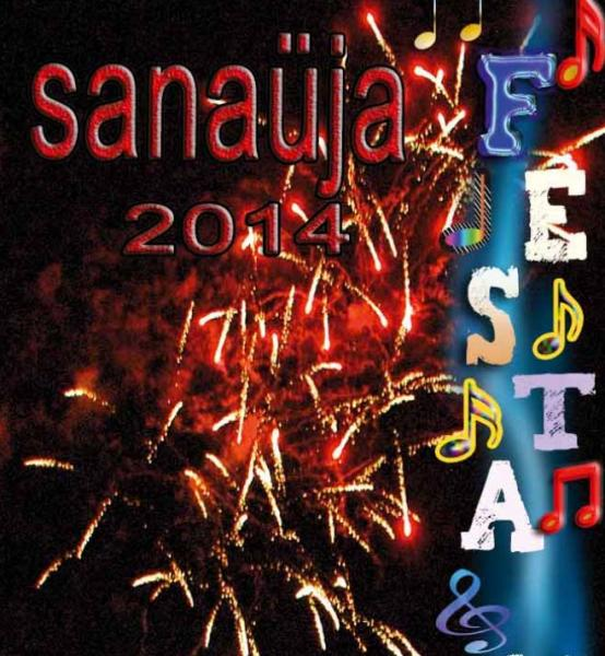 cartell Festa major Sanaüja 2014 - Sanaüja