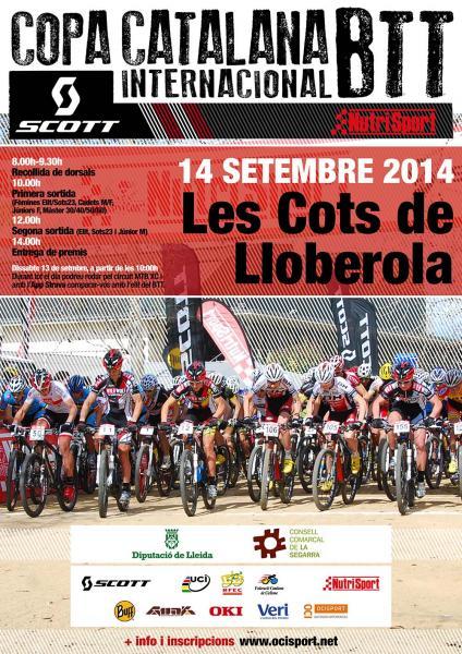 cartell Copa Catalana BTT Internacional: Les Cots de Lloberola