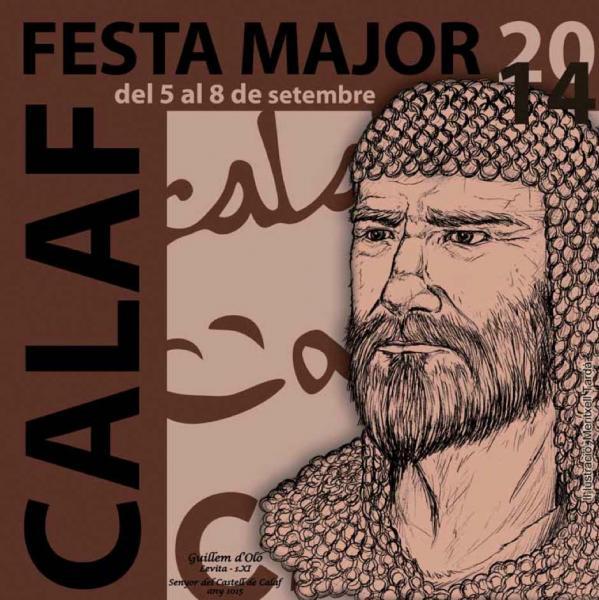 cartell Festa Major Calaf 2014