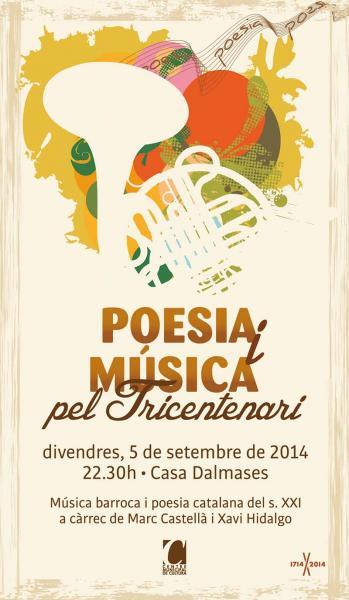 cartell Poesia i música pel Tricentenari