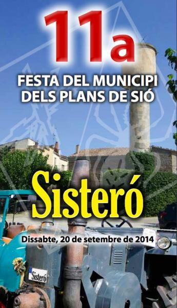 cartell 11a Festa del municipi dels Plans de Sió