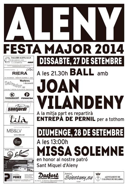 cartell Festa Major Aleny 2014