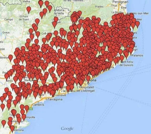 Gairebé 700 ajuntaments celebraran plens per donar suport a la consulta del 9N -