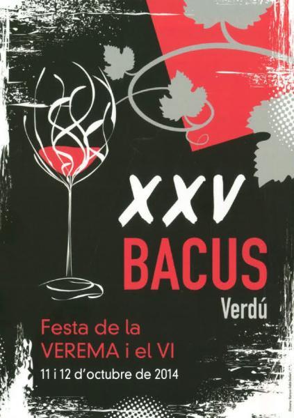 cartell XXV BACUS, Festa de la Verema i el Vi