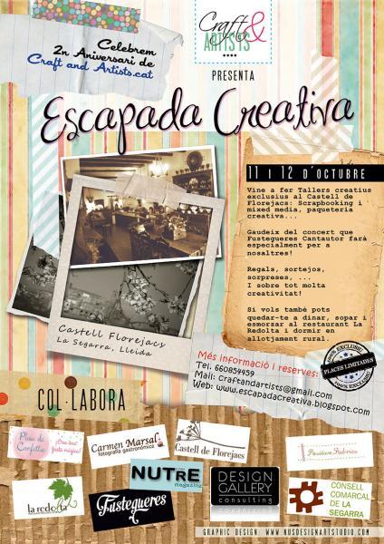 cartell Escapada Creativa 2014 - Florejacs