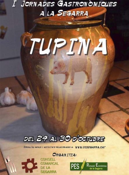 cartell primeres jornades gastronòmiques de la Segarra
