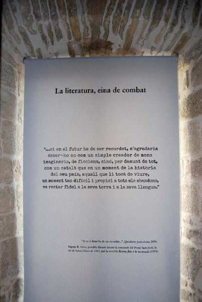 27.10.2014 exposició permanent 'Pedrolo, més enllà dels límits'  Concabella -  Ramon Sunyer