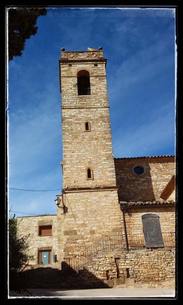 22.09.2014 Església Santa Maria romànic (XIII)  Sant Guim de la Plana -  Ramon Sunyer