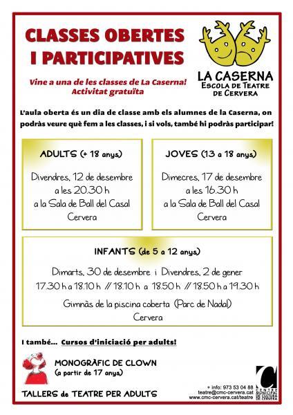 CLASSE OBERTA DE TEATRE - Joves