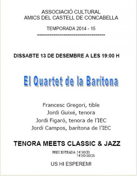 cartell El Quartet de la Barítona al Castell de Concabella