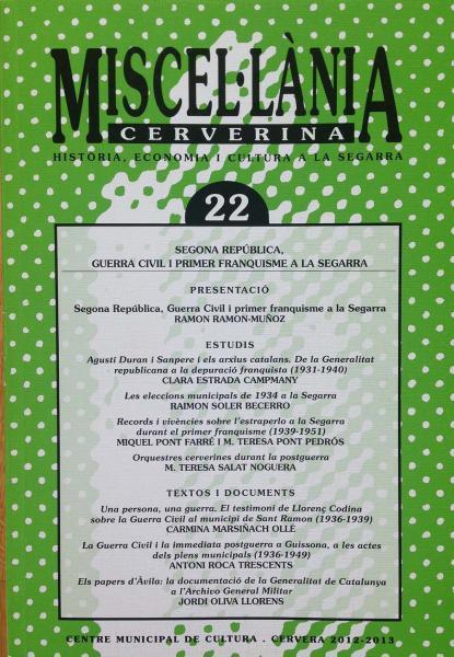 Miscel·lània Cerverina de 2013 - Cervera