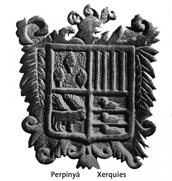 escut Perpinyà-Xerquies escolpit per Jaume Coberó