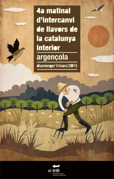 cartell 4a Matinal d'intercanvi de llavors de la Catalunya interior / Argençola -