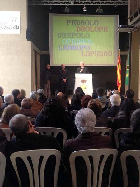 Ferran Mascarell a la inauguració del Fons Documental Manuel de Pedrolo al castell de Concabella - Concabella