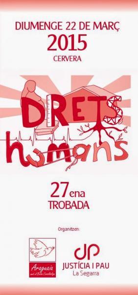 cartell Trobada 2015. 'Drets humans: (r)evolució pendent' - Cervera