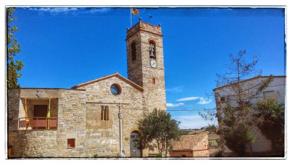 21.09.2014 Església Santa Maria romànic (XIII)  Sant Guim de la Plana -  Ramon Sunyer