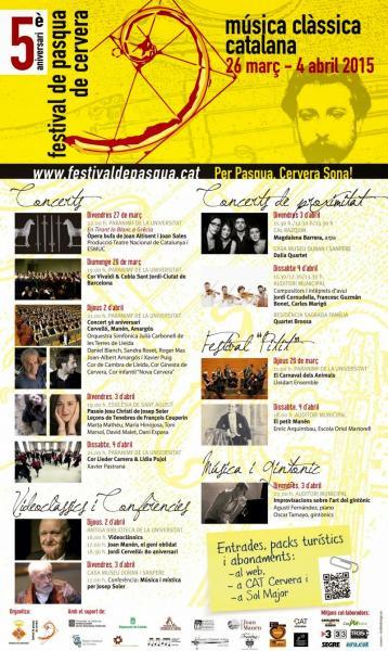 cartell V Festival de Pasqua de Cervera - Cervera