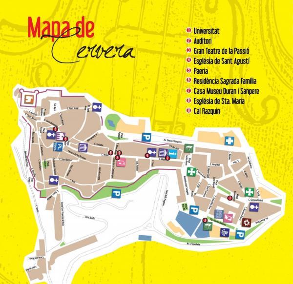 Localitzacions V Festival de Pasqua de Cervera - Cervera