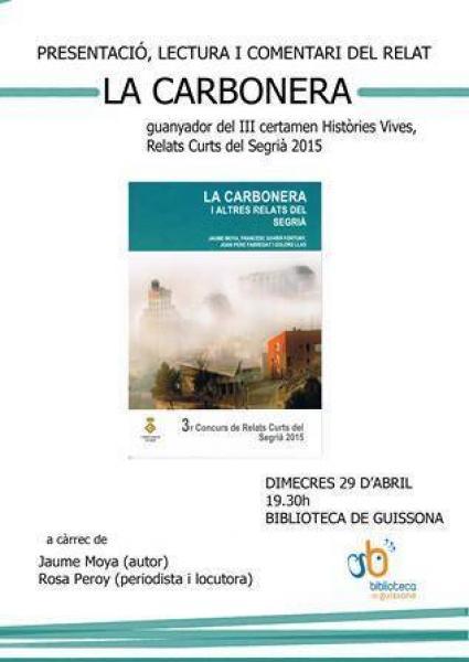 cartell presentació i lectura de LA CARBONERA
