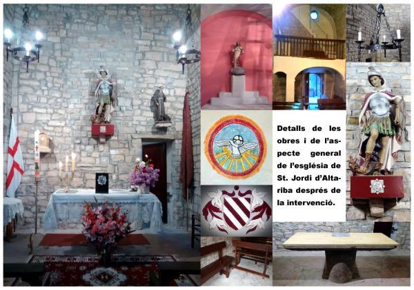 Inauguració de les obres de l'interior de l'església romànica de Sant Jordi d'Alta-riba.