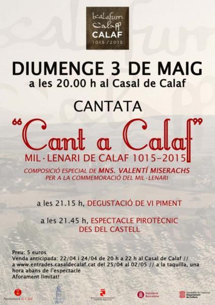 cartell Cantata 'Cant a Calaf'