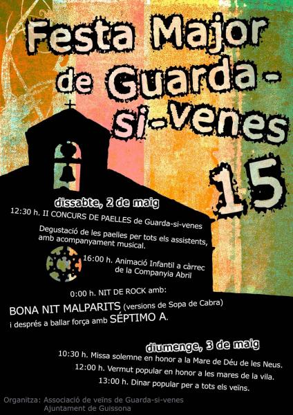 cartell Festa major de Guarda-si-venes 2015