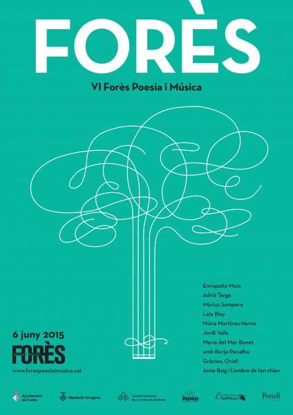 cartell VI Forès Poesia i Música