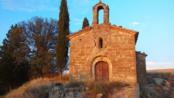 28.08.2014 Santa Maria de Castellmeià, o Església de la Mare de Déu de la Llet romànic sXI  Castellmeià -  Ramon Sunyer