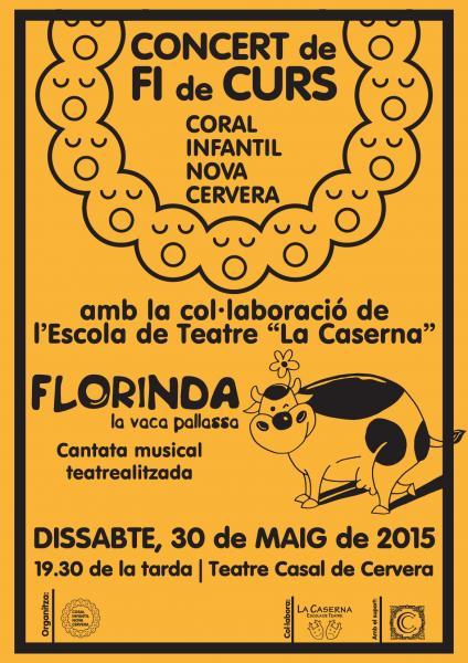 cartell Concert Fi de Curs de la Coral Infantil Nova Cervera