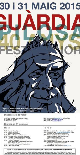 cartell Festa major de la Guàrdia Pilosa 2015