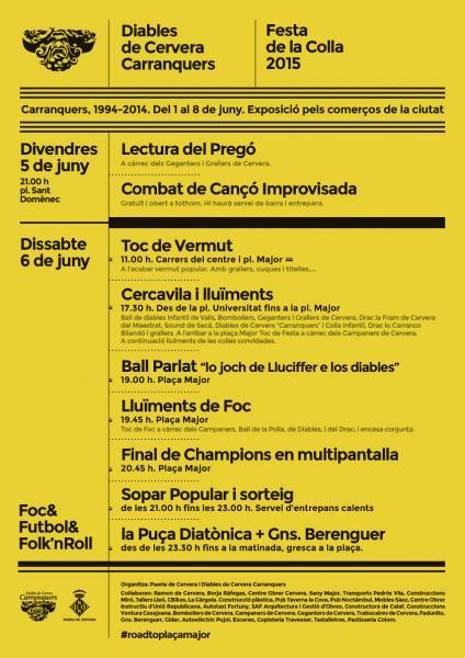 cartell Festa de la Colla dels Diables de Cervera Carranquers
