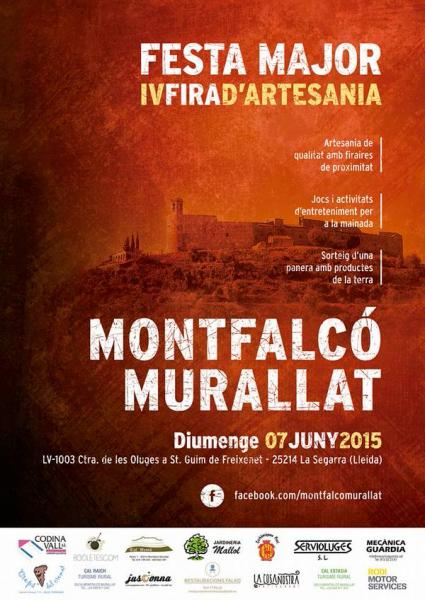cartell Festa Major i IV Fira d'Artesania de Montfalcó Murallat 2015
