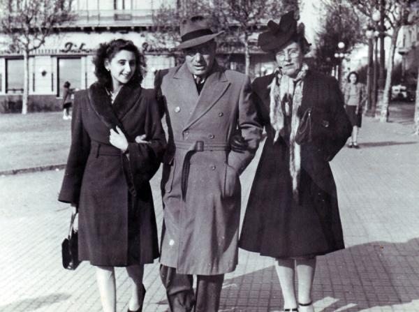 Joan Comorera amb la seva esposa, Rosa Santacana i la seva filla Núria