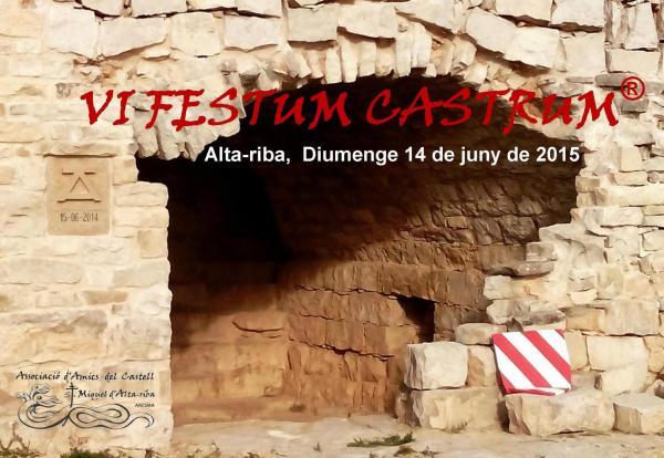 Cartell de la 6a Festum Castrum d'Alta-riba -