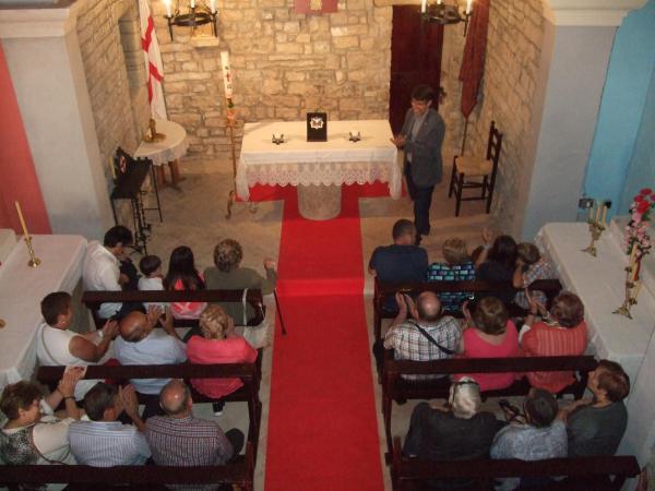 Visita a les obres de millora de l'església de Sant Jordi d'Alta-riba -
