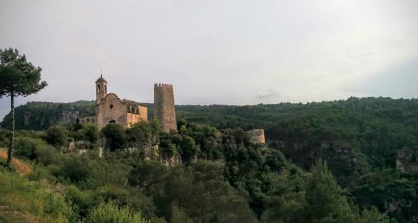 14.06.2015 La torre i l'església  Santa Perpètua de Gaià -  Ramon Sunyer