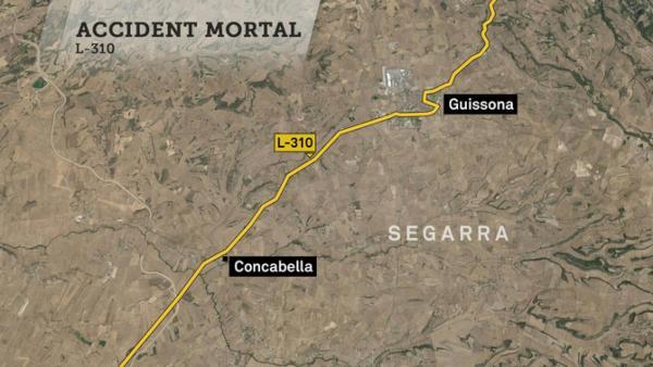 L'accident va tenir lloc al quilòmetre 14 de la carretera L-310 a  Concabella
