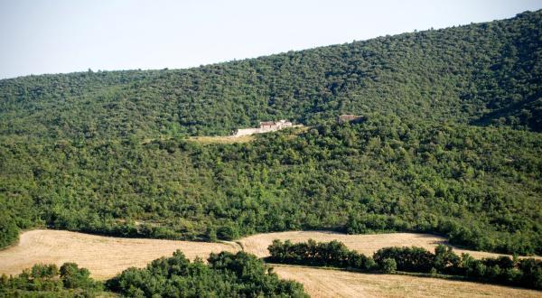 24.06.2015 Vista des de sant Magí  Rocamora i Sant Magí de la Brufaganya -  Ramon Sunyer