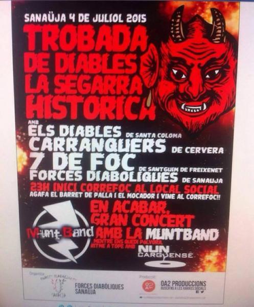 cartell 7a Trobada de Diables de la Segarra Històrica