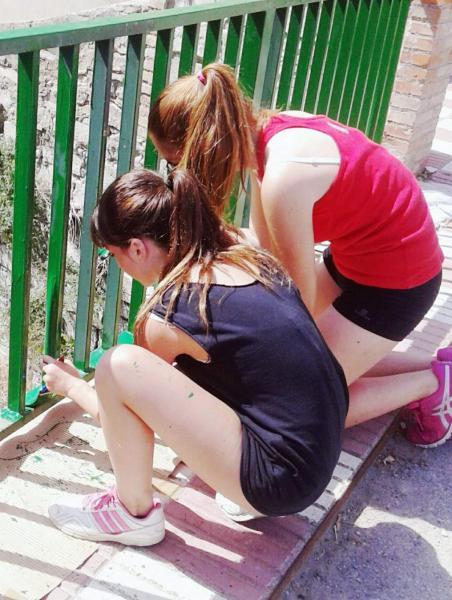 Joves del camp de treball local a Sant Antolí - Sant Antolí i Vilanova