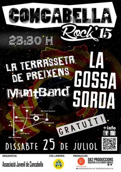 cartell Concabella Rock 15