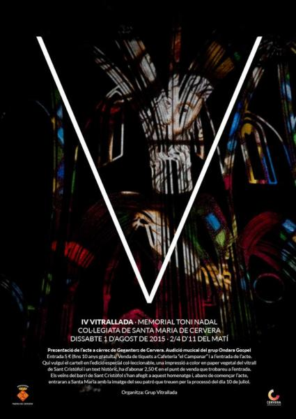 cartell IV Vitrallada - Memorial Toni Nadal