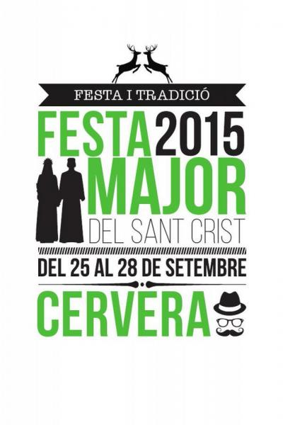 cartell Festa Major del Sant Crist 2015 Foto: Paeria Cervera - Cervera