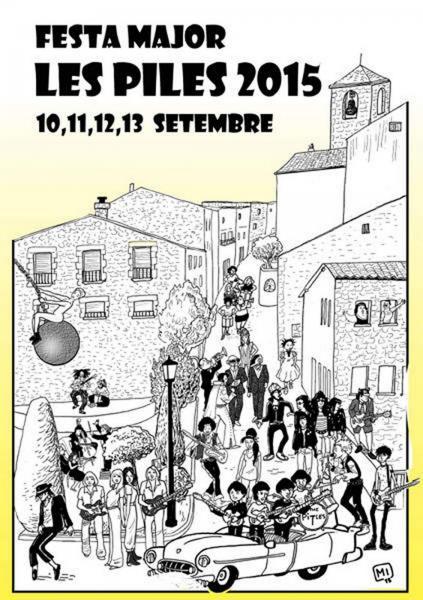 cartell Festa Major de Les Piles 2015