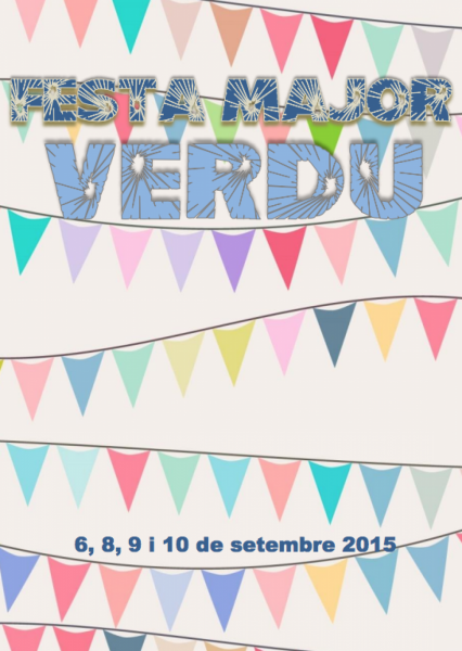 cartell Festa Major de Verdú 2015