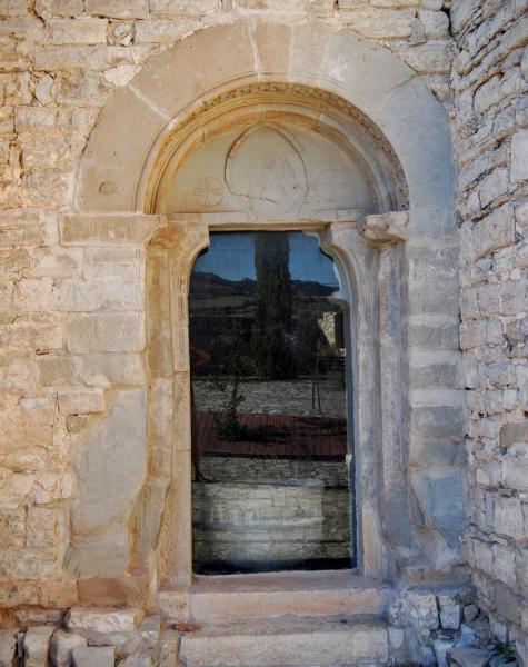 28.08.2015 Església de Sant Salvador, porta antiga  Granyanella -  Ramon Sunyer